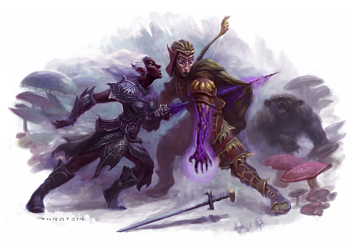Dungeons and Dragons - Shadow Hand Maneuver interior art