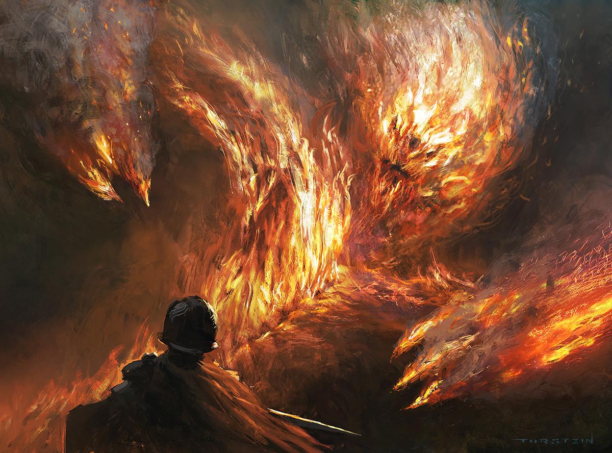Magic The Gathering - Firefiend Elemental